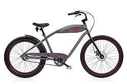 Electra Relic 3i Herren Fahrrad Grau Metallic Beach Cruiser Rad Retro 3 Gang, 528816