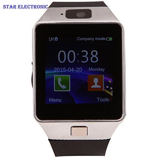'MEMTEQ? Bluetooth Smart Watch Orologio Intelligente 1.54?Comandi con Cam Ra spia di 1,3MPS per t Elegante L Phone Andorid Samsung/HTC/LG/Huawei/ZTE Argento...........