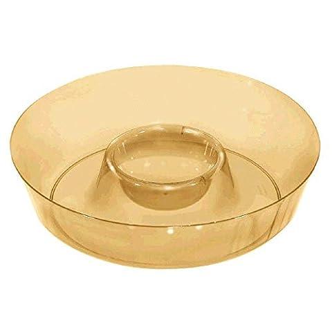 Gold Kunststoff 111/2in Chip und Dip Schale