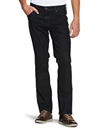 Wrangler Texas Stretch Blue Black, Jeans Homme