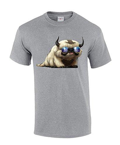 Avatar the last airbender cool animal herren grau t-shirt (S)