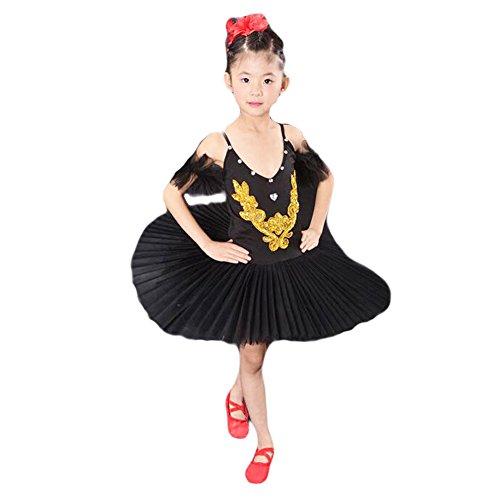 Black Temptation Kleinkind -Ballett-Kleid/Sling Ballett Schwarzer Rock/Schwanensee Kostüme