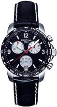 Comprar Certina DS Podium - Reloj de cuarzo para hombre, correa de cuero color negro