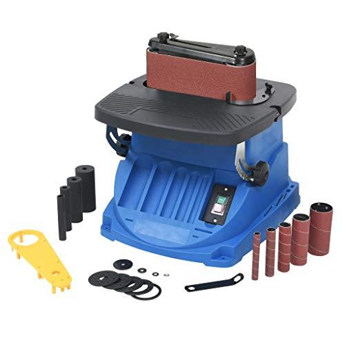 vidaXL Bandschleifmaschine Oszillierend 450W Blau Spindelschleifmaschine