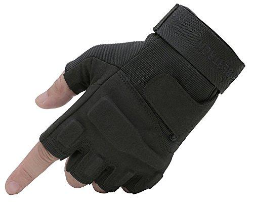Seibertron® Damen Herren S.O.L.A.G Handschuhe taktisch 1/2 Finger Militär Kampf Armee Fingerless halbe Finger für Airsoft Militär Paintball Schießen Und Other Outdoor Activities Handschuhe S