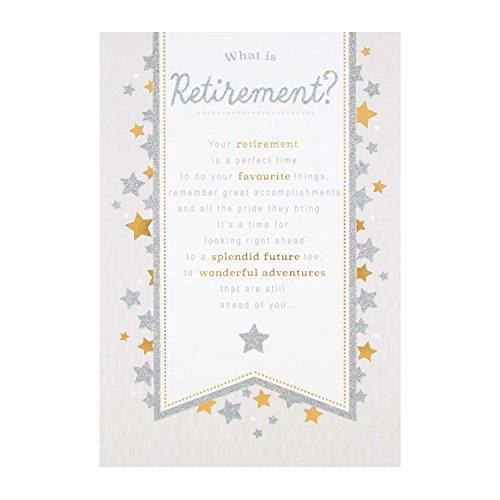 Hallmark 25490668 - Tarjeta de felicitación de jubilación (tamaño mediano)