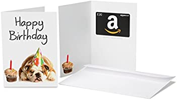 Amazon.co.uk Gift Card - In a Greeting Card - £20 (Birthday Dog)