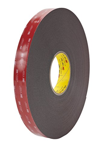 3M VHB Heavy Duty Mounting Tape 5952 Black, 3/4 in x 15 yd 45 mil by 3M (English Manual)