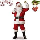 Erwachsene Unisex Cosplay Weihnachten Anzug Weihnachtsmann Kost¨¹m Kost¨¹m Outfit f¨¹r Cosplay Party Urlaub 5 Teile/satz (L)