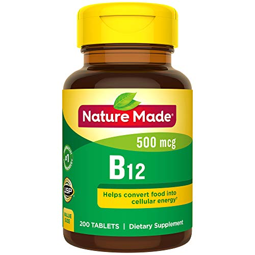 Nature Made Vitamin B12500mcg, Tabletten, 200Stück (Nature Made B12 Vitamin)