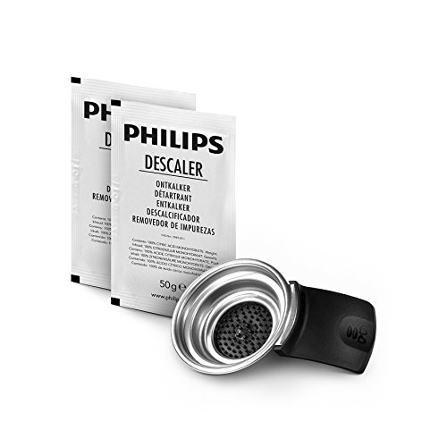 Philips CA6514/02 Kit de maintenance pour SENSEO Original Détartrant 6 mois & Porte-dosette 2 tasses