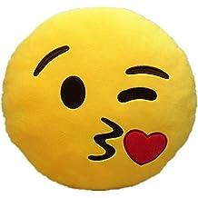 Emoji Emoticono Cojín Almohada Redonda Emoticon Peluche Bordado Sonriente (Emoji 7)