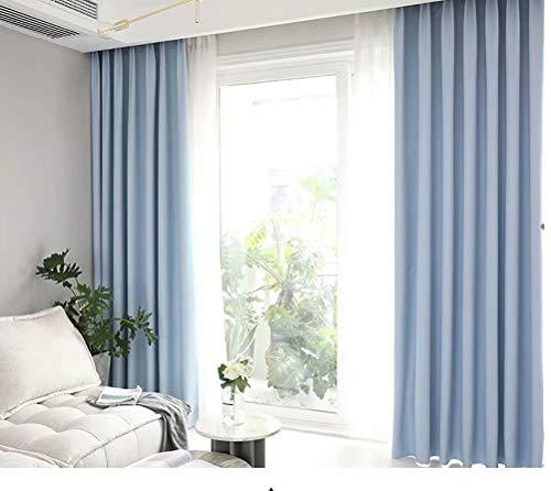 WLGJYBV Schlafzimmer Wohnzimmer Vorhänge einfache gehobene europäische High-Definition-Verdunkelungsvorhänge 140cmx245cm (B x H) 2 Platten