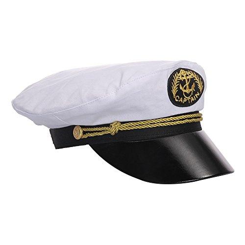 FACILLA® Kinder Seemann Kapitän Kostüm Cap Hut Mütze Kapitänsmütze Marinemütze Hut