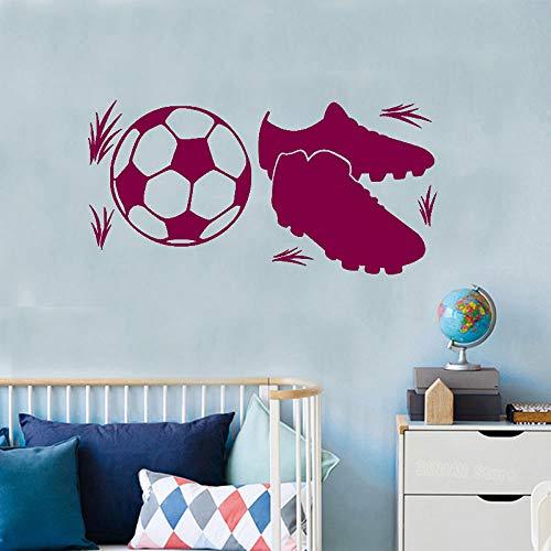 Fußballschuhe Wandaufkleber Jungen Zimmer Fußball Dekoration Jugendliche Spielplatz Poster Vinyl Kunst Design Aufkleber ~ 1 42 * 84 cm -