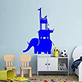 Zaosan Tierwand Applique Elefant Nashorn Giraffe Vinyl Wandtattoo Kindergarten Kinderzimmer...