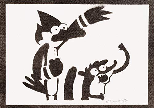 Art Show Poster (Regular Show Rigby und Mordecai Poster Plakat Handmade Graffiti Street Art - Artwork)