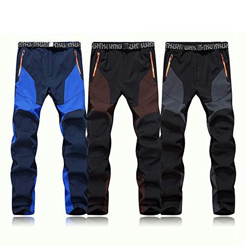 Solike Pantalon de Survêtement de Travail de Plein air Coupe-Vent Imperméables pour Hommes Réchauffent épais Chaud Pantalons d'hiver