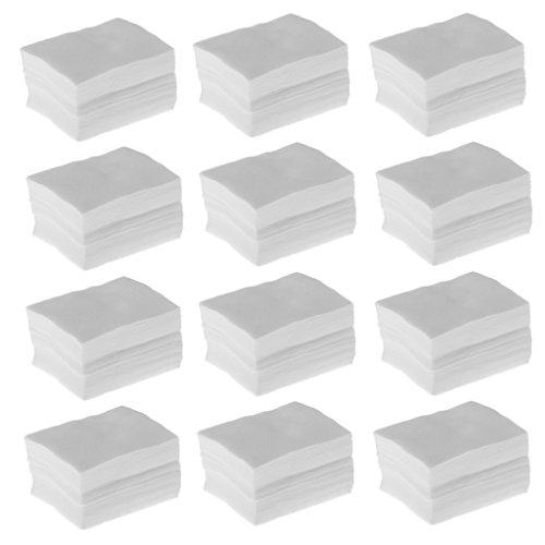 Gazechimp 1200pcs Cellulose Coton Démaquillant pour Démaquillage Nettoyage du Visage