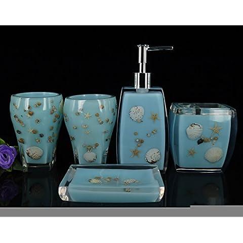 SBWYLT-Set da bagno di stile europeo con lavaggio spazzola di