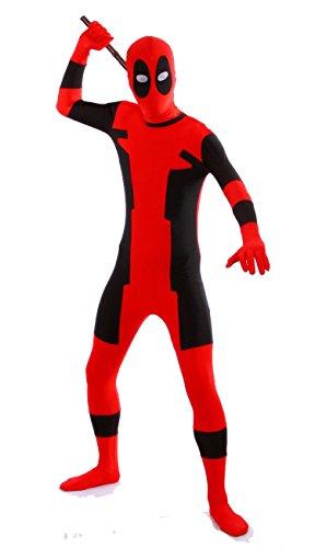 Imagen de superskins disfraz  disfraz de deadpool para adultos y unisex, zentai onesie disfraz de halloween, económico de lycra., rojo alternativa