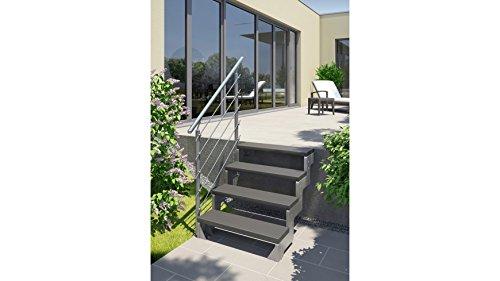 DOLLE Außentreppe Gardentop Set 1, Startset für 2 Stufen gerade