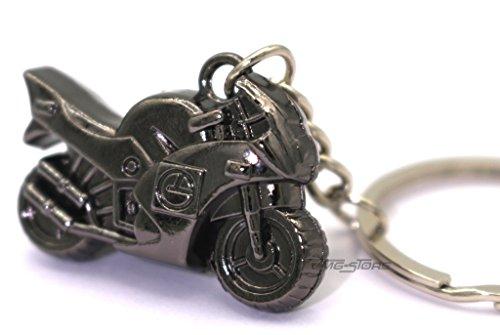 Mini Motorrad Schwarz Metall Schlüsselanhänger von VmG-Store