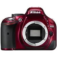 Nikon D5200 SLR-Digitalkamera (24,1 Megapixel, 7,6 cm (3 Zoll) TFT-Display, Full HD, HDMI) nur Gehäuse rot
