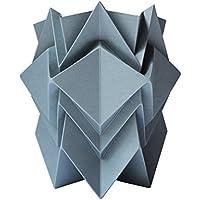 Cache pot ou pot à crayon origami design en papier - gris foncé