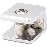 Einstellbare quadrierten Clip Clamp Silber Ton für 7-10,5 mm Glasdicke de