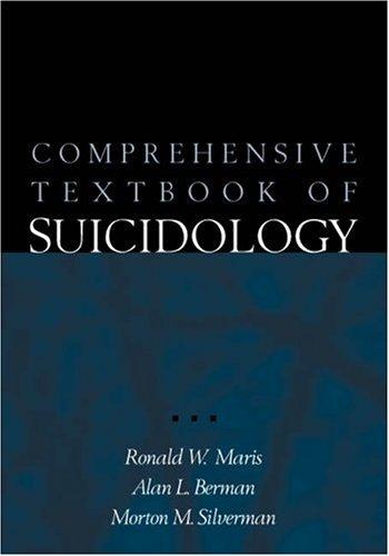 Comprehensive Textbook of Suicidology por Ronald W. Maris