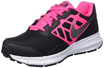 Nike Downshifter 6 (Gs/Ps) Scarpe Sportive, Ragazza, Blk/Mtllc Slvr-Hypr Pnk-White, 28
