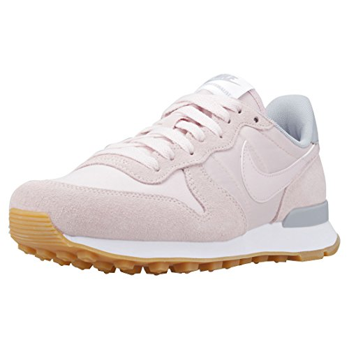 Nike Damen Internationalist Laufschuhe Pink (Barely Rose/Barely Rose-Wolf Grey-White 612)
