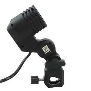 DynaSun WOF4005 E27 Professional Lamp Holder Swivel Socket Single Bulb with Umbrella Bracket for Flash Light Lighting Monolight