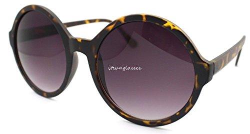 Dark Tortoise Rahmen rund Moderne Retro Damen Gaga Circle Sonnenbrille