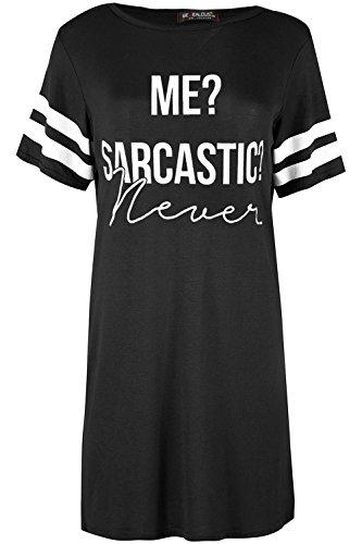 Fashion Star Oops Outlet Ladies Me Scarcastic Short Sleeve Baggy Nightie Night Sleep Dresses Womens Oversized Sleepwear PJ Shirt Dress
