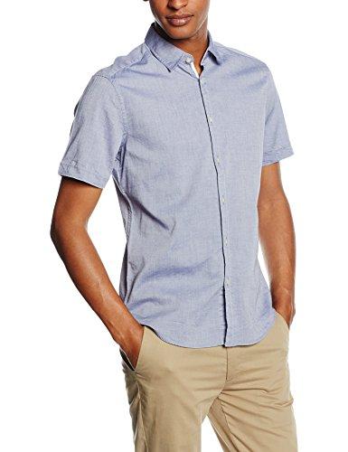 ESPRIT Basic - Camicia a maniche corte Uomo, Blu (Blue Lavender 2 426), Small