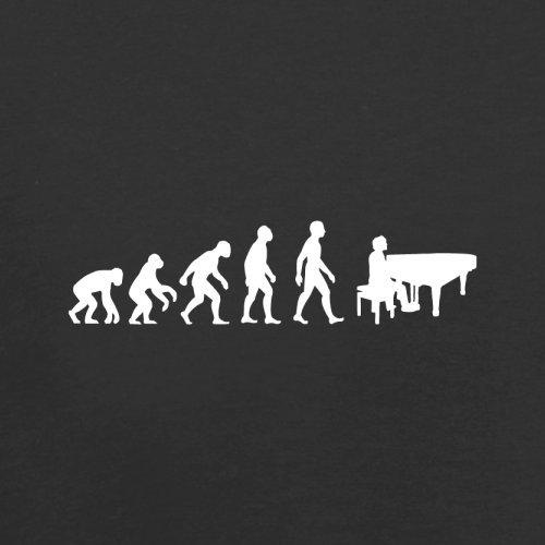 Evolution of Man - Klavier - Herren T-Shirt - 10 Farben Schwarz