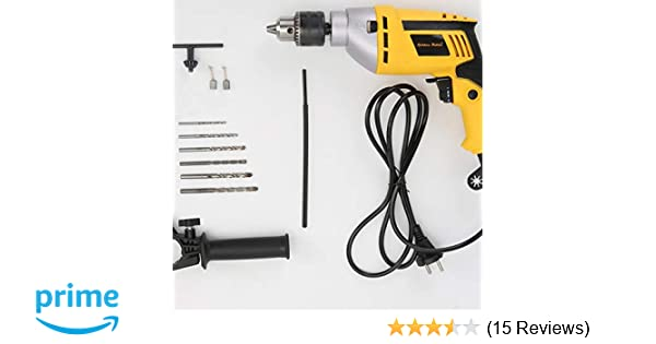 Golden Bullet HI93 600W 13mm Forward Reverse Variable Speed Impact Drill  Machine with 6 Free Drill Bits