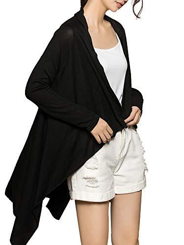 MessBebe Strickjacke Damen offene Cardigan Lange Ärmel leicht Strickcardigan Dünne Jacke mit Offenem Ausschnitt Lange Ärmel Mantel