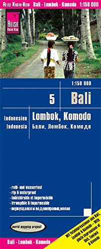 Reise Know-How Landkarte Bali, Lombok, Komodo (1:150.000) - Indonesien 5: world mapping project (Karte Indonesien)