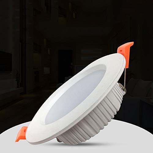 Yaione Aluminium-Flächenleuchte Cool White Light 6000K [Energieklasse A +] Deckenleuchte No Stroboscopic Simple Floodlight Wafer Chip Einteilige Garagen-Lernleuchte für Nennspannung mit Anschlusskaste