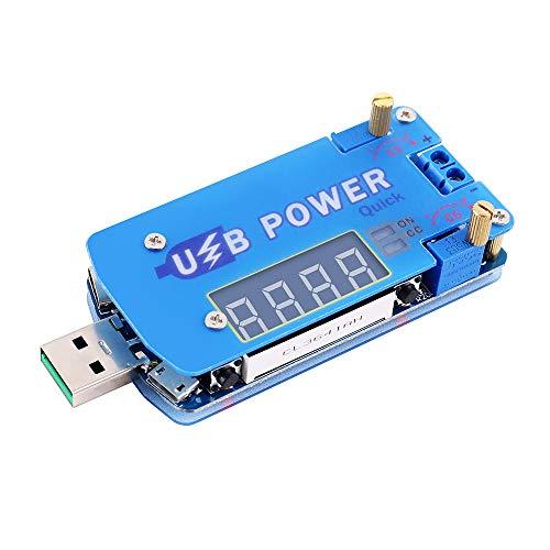 PEMENOL 15W DC-DC USB Step Up/Down Stromversorgungsmodul Mit Schnellladungs-Triggerfunktion und Digitale Röhrenanzeige Einstellbarer Konstante Spannung konstanter Strom Boost-Buck Konverter Modul Buck-boost-controller