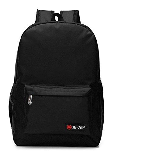 Nette Buch-Taschen für Schulmädchen-Jungen-jugendlich Schulrucksack-hohe Kapazität und Qualität ( Farbe : Orange L ) Black M