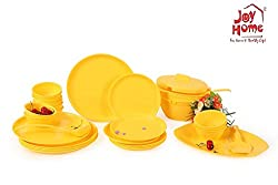 Joy Home Microwave Safe Dinner Set-32 pcs Round Yellow