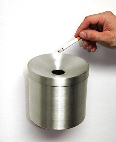 Preisvergleich Produktbild Wandaschenbecher Ø 145mm x H: 270 mm,  Edelstahl,  Marke: Szagato,  Made in Germany (Ascher, Wand-Aschenbecher)