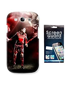 KolorEdge Fifa Back case + Screen Protector for Samsung Galaxy S3 - Multicolor