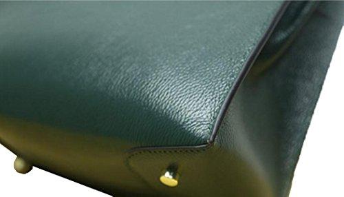 La Signora Autunno E In Inverno Moda Primo Strato Di Borsa A Tracolla In Pelle Green