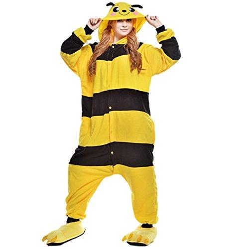Imagen de pijamas adultos animales disfraz anime cosplay ropa de dormir franela traje unisex homewear m abeja