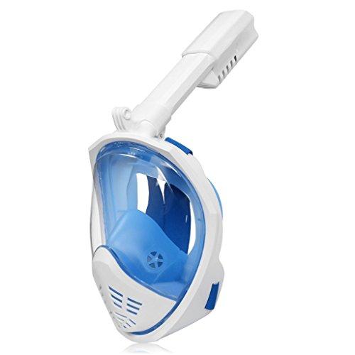 TGDY Faltbare Schnorchel-Maske Vollansicht 180-Grad-Vollgesichts-Schnorcheln Schnorchel-Masken Tauchmaske Erwachsenen-Und Kindersicherheit Tauchen,D,S/M